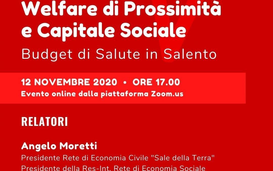 Welfare di Prossimità e Capitale Sociale